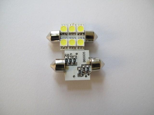 LED・チップ基板ハンダ付け LEDルームランプ
