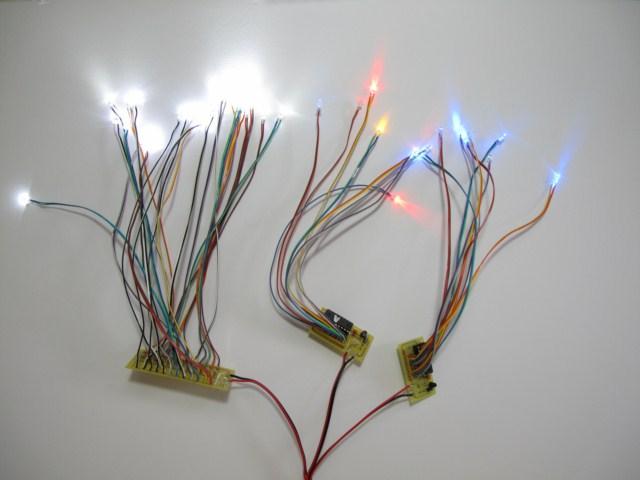 LED・基板ハンダ付け LEDハーネス処理